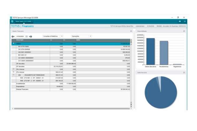 Reprodução da gestão do ERP - sistema TOTVS